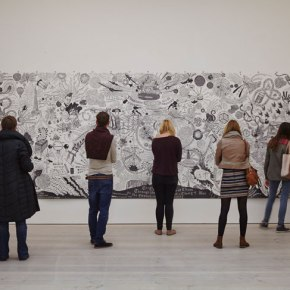 Art students visit to the Saatchi gallery