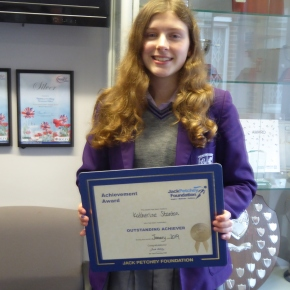 January Jack Petchey Award Winner