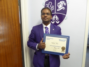 February Jack Petchey Award Winner